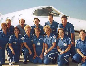 air ambulance jet crew