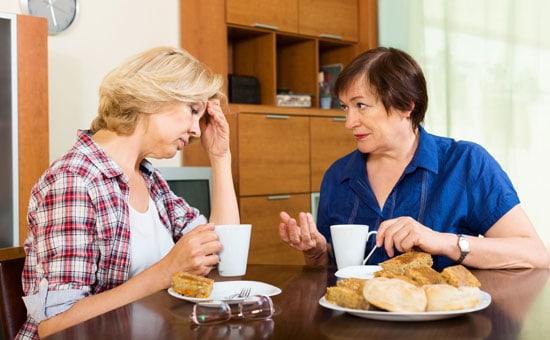 Women discussing stroke symptoms