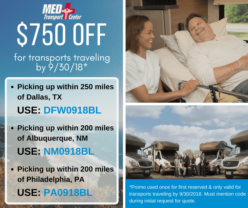 $750 Off transport by 9/30/18